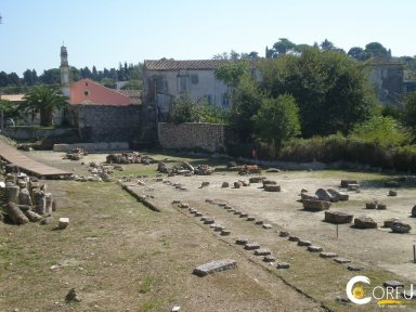 Korfu Sightseeing Archaeological Sites Artemis-Tempel St. Theodor