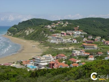 Керкира Avliotes пляж Агиос Стефанос Авлиотон