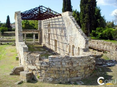 Corfu Sightseeing Archaeological Sites Early Christian church basilica Palaiopolis