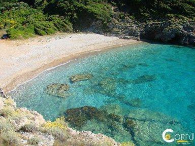 Керкира Палайокастрица - Палеокастритса пляж Liniodoros
