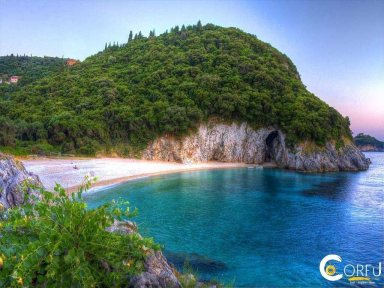 Korfu Palaiokastritsa - Paleokastritsa Strand von Rovinia